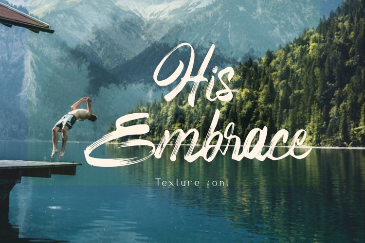 His Embrace Brush Font example image 1