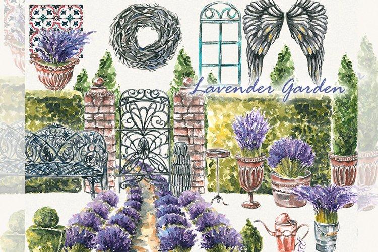 Tree clipart, topiary clipart, garden clipart, lavender clip