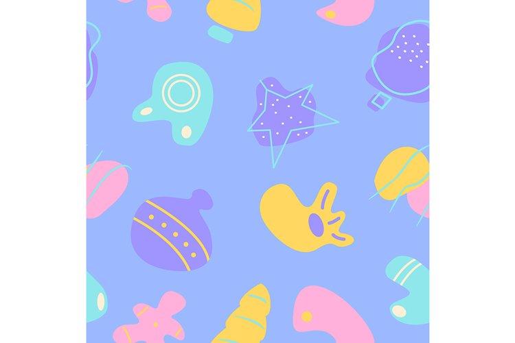 Winter season holiday decor abstract seamless pattern example image 1