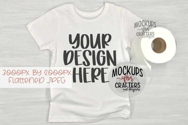 T-Shirt, Toilet Paper, Mock-Up example image 1