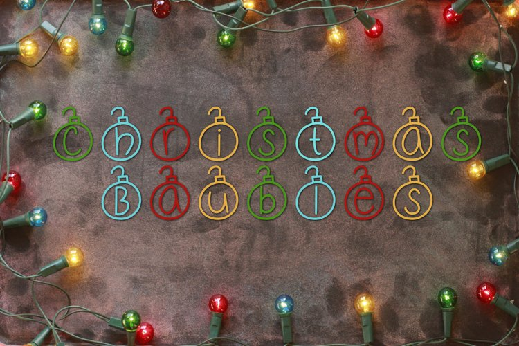 Christmas Baubles - A Christmas Decor Font example image 1