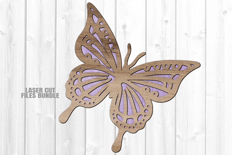 Layered Butterfly SVG Glowforge Laser Cut Files
