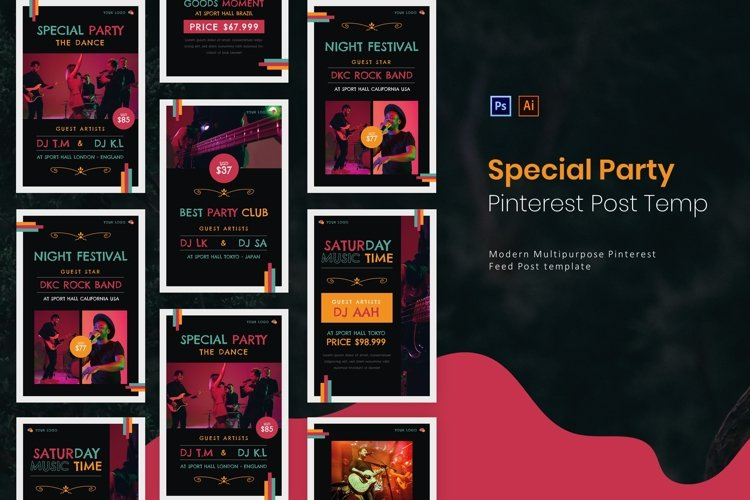 Special Party | Pinterest Post Template example image 1
