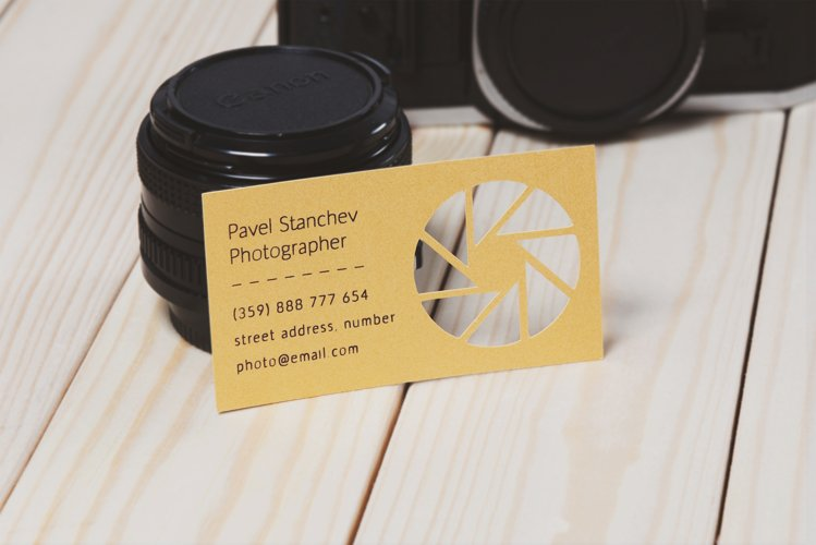 Photographer business card template cutting file