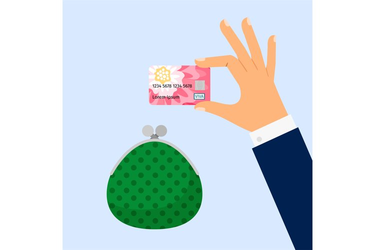Businessman hand holding credit card example image 1