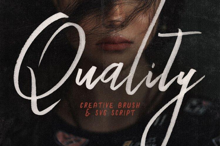 Quality SVG Bold Brush Script example image 1