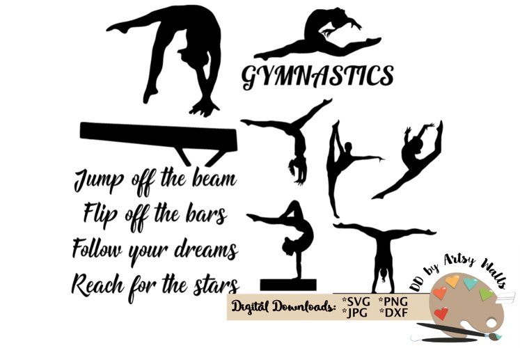 Gymnastics quote - girl gymnast clip art - gymnastics bundle