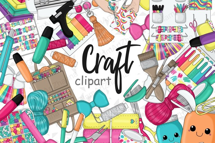 Crafting CLIPART Craft Planner Crafty Girl Lady Boss - PNG