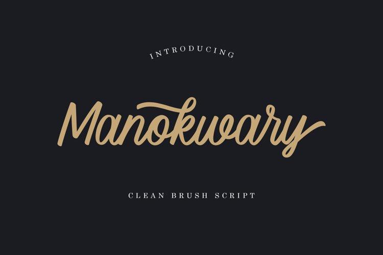 Manokwary - Clean Brush Script example image 1