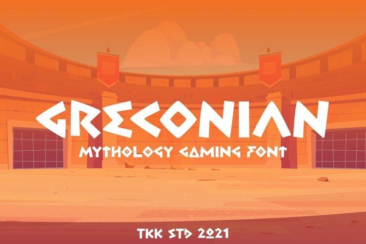 Greconian - Gaming Font