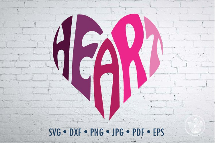 Heart SVG cut file in a Heart Shape example image 1