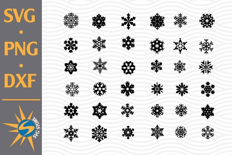 Snowflake SVG, PNG, DXF Digital Files Include example image 1