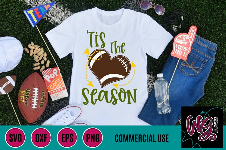 Tis the Season Football SVG DXF PNG EPS Comm