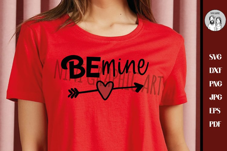 Be mine svg, Valentines day svg, Girl's valentine svg, example image 1