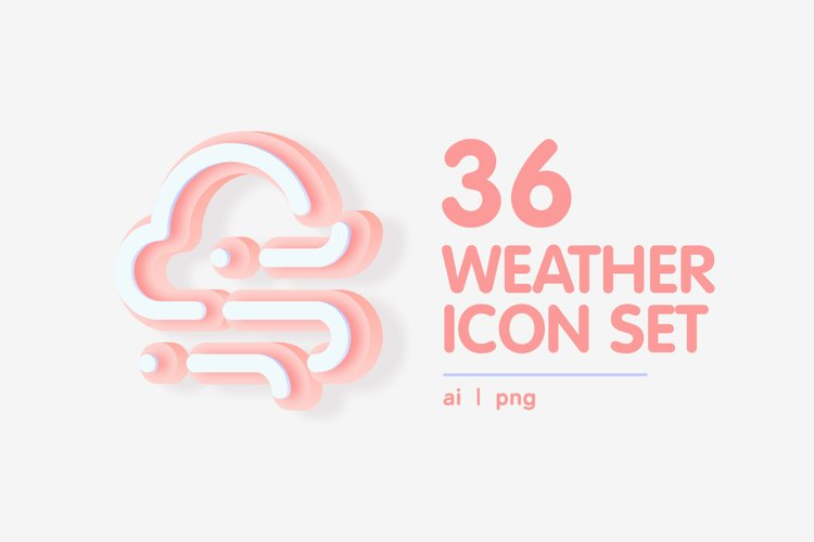 3D Colourful Weather Forecast Icon Set