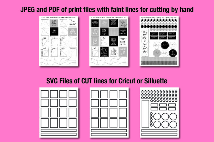 Printable Planner Stickers with Cut Files example image 1