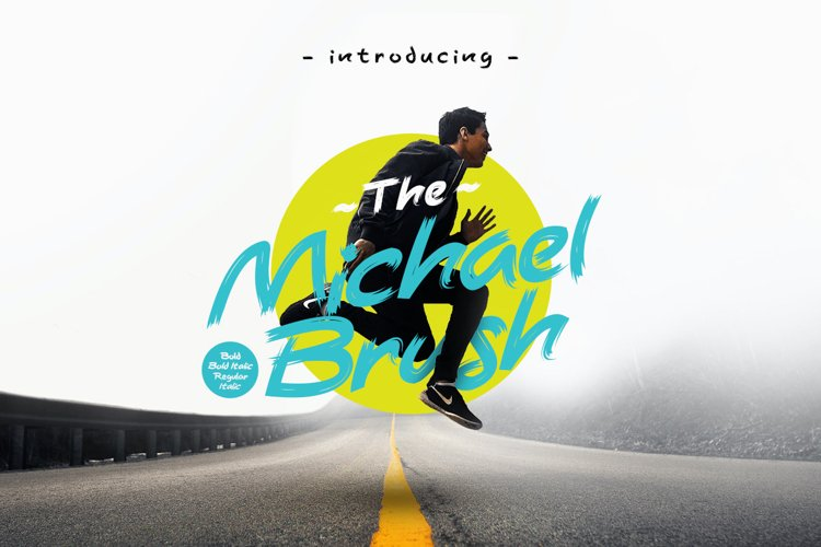 Michael Brush Display Font example image 1