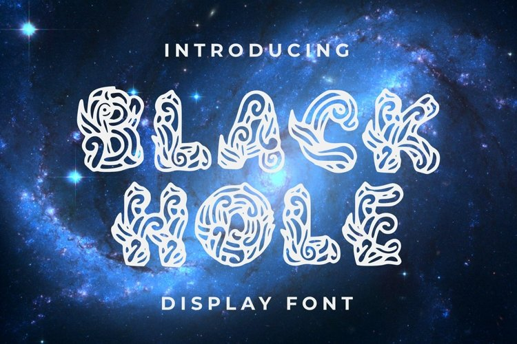 Web Font Black Hole Font example image 1