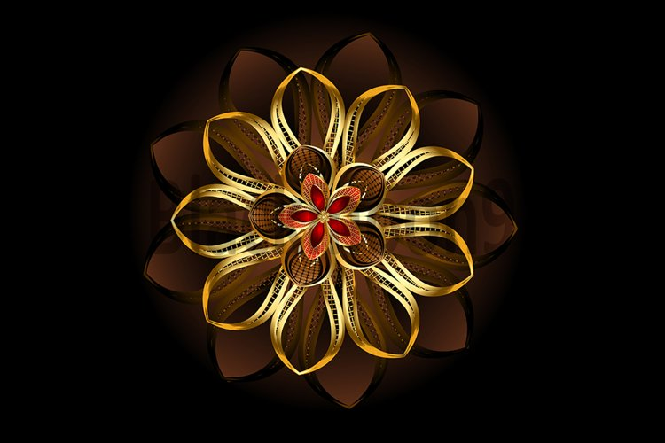 Abstract Brown Flower example image 1