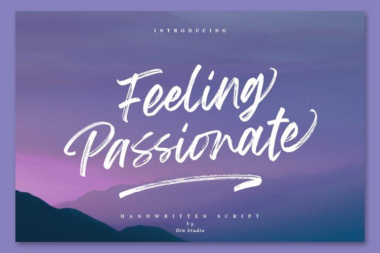 Feeling Passionate - Brush Font example image 1