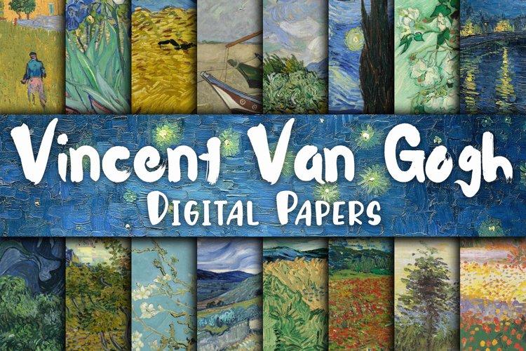 Vincent Van Gogh Paintings Digital Papers example image 1