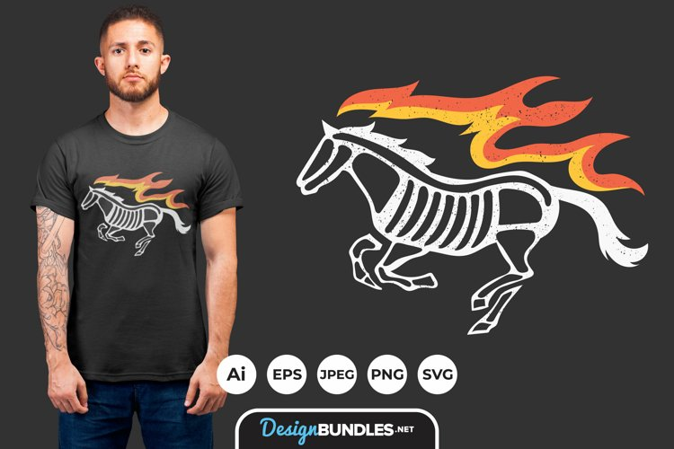 Fire Horse for T-Shirt Design example image 1
