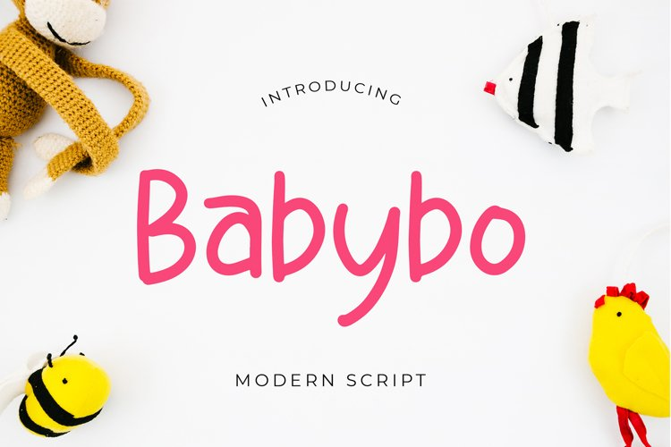 Babybo Cute Display Font example image 1