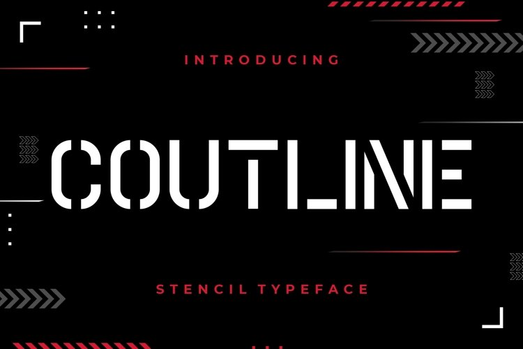 Coutline Stencil Typeface example image 1