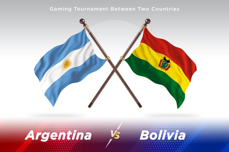 Argentina vs Bolivia Two Flags example image 1