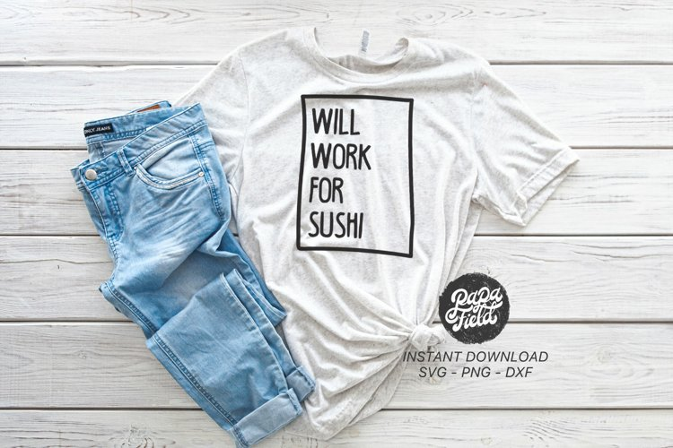 Will work for Sushi SVG PNG DXF example image 1