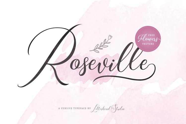 Roseville Script example image 1