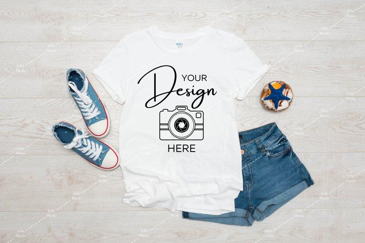 Gildan 64000 Mockup Softstyle White T-shirt Mock up Summer