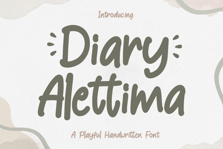 Playful Font - Diary Alettima example image 1