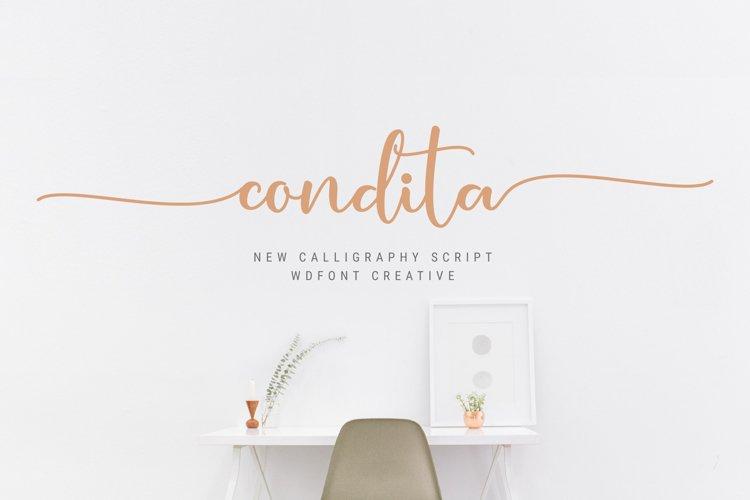 Condita Script Font example image 1