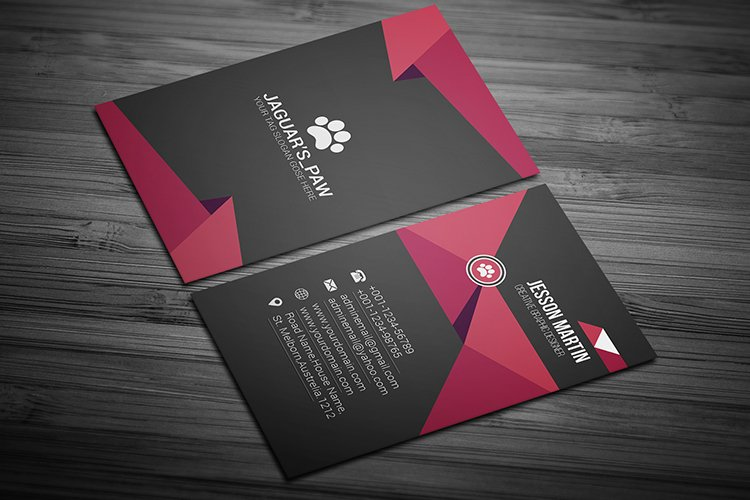 Stylish Modern Business Card Template Design example image 1