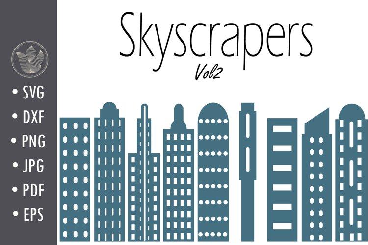 Skyscrapers Svg cut file, Vol 2