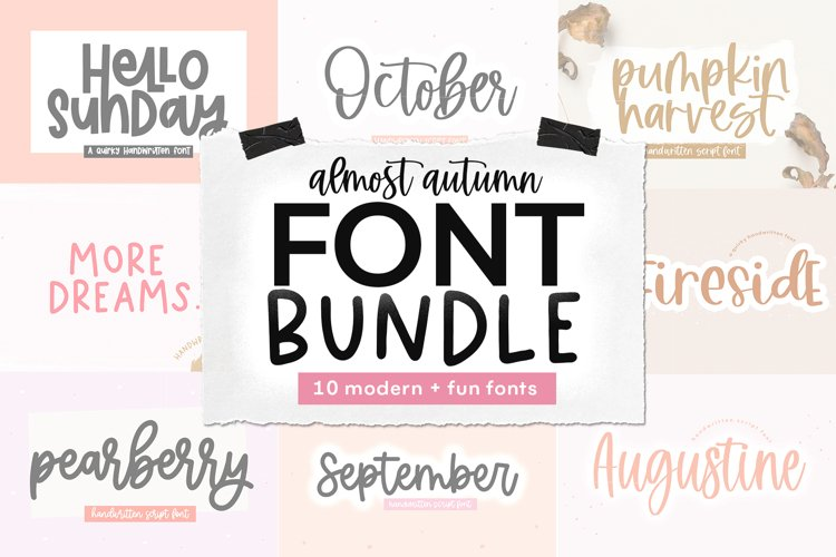 Font Bundle - Handwritten Fonts for Crafters - Almost Autumn example image 1