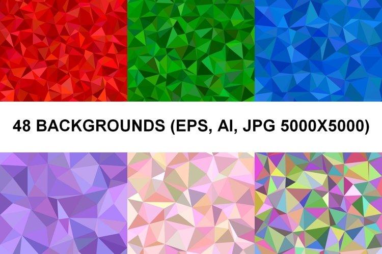 48 Triangle Backgrounds AI, EPS, JPG 5000x5000