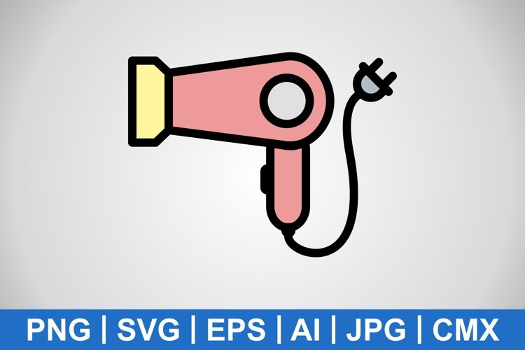 Vector Hair Dryer Icon example image 1