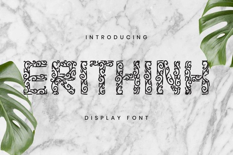 Web Font Erithink Font example image 1