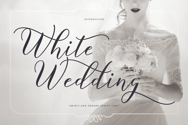 Web Font White Wedding example image 1