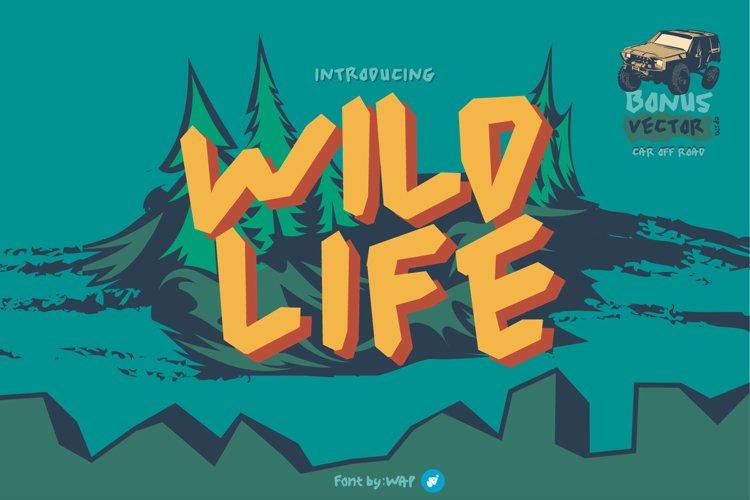 wild life   unique font example image 1