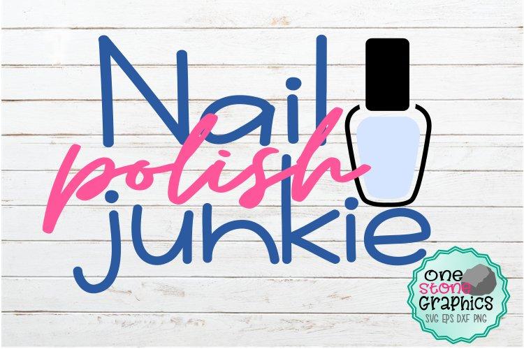 nail polish junkie svg,nail polish svg,polish svg, nails