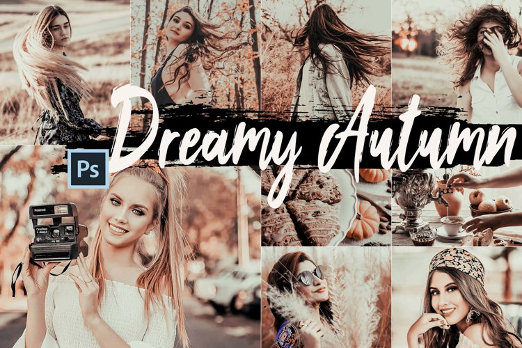 5 Dreamy Autumn Photoshop Actions, ACR and LUT presets example image 1