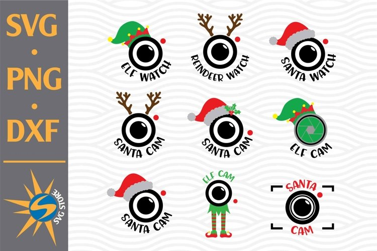 Santa Cam SVG, PNG, DXF Digital Files Include example image 1
