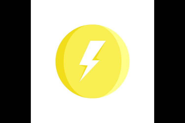 Lightning Bolt Symbol Yellow Icon Vector Illustration 875589 Icons Design Bundles