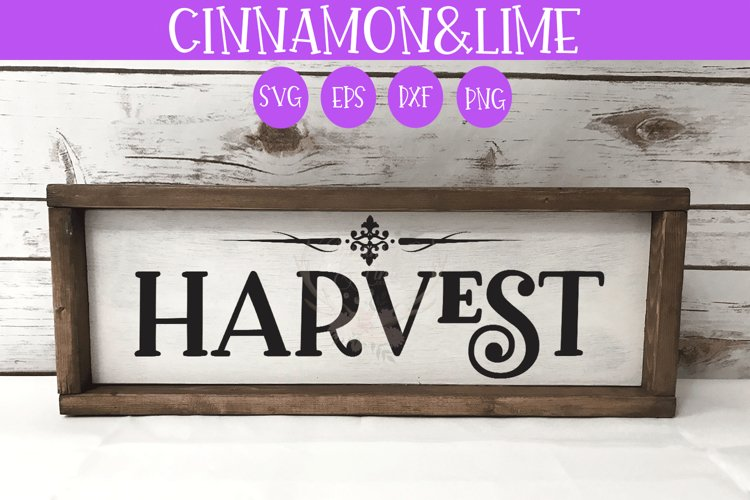 Thanksgiving SVG - Harvest Fall Wood Sign example image 1