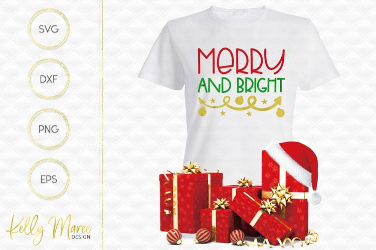 Merry and Bright SVG File example image 1