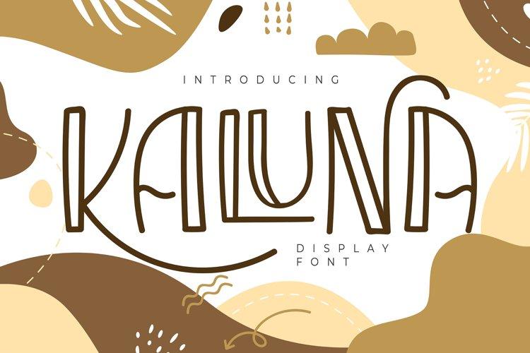 Kaluna   Display Font example image 1
