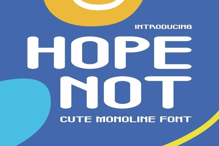 Web Font Hope Not Font example image 1